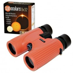 Lunt 8x32 White-Light SUNoculars (Red) - CLEARANCE