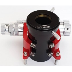 "Moonlite CR2 DUAL Speed Crayford Focuser for Newtonians with 2"" Travel with Compression Ring - RED Colour"