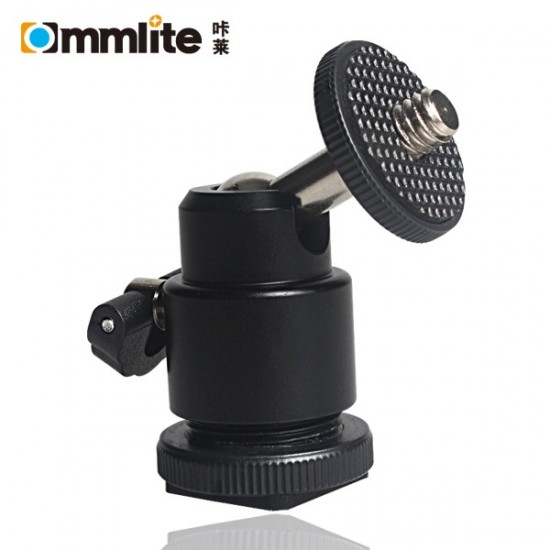 "Commlite LCD Monitor Adapter 1/4"" Mini Ball Head Mount with Hot Shoe Base"