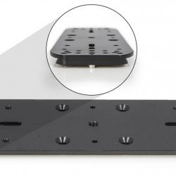 """Baader Double Mounting Plate and Holder for Guidescope Rings (I & II), 300mm with 3"""" Dovetail"""