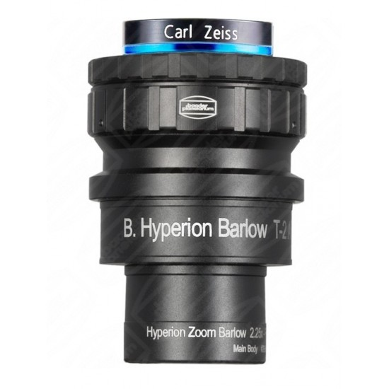 Baader Hyperion 2.25x Zoom Barlow Lens with Click-Lock Eyepiece Clamp
