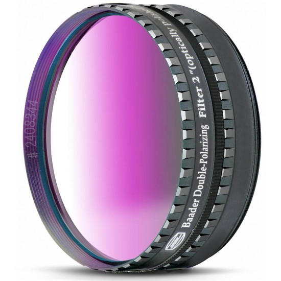 """2"""" double polarizing filter w/ rotating filter cell"""