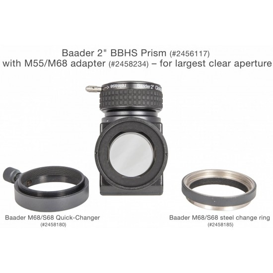 """Baader 2"""" BBHS Star Diagonal PRISM with 2"""" ClickLock Clamp with Broad Band Hard Silver Coating with Dielectric Protective Overcoating"""