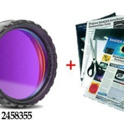 """Baader 1.25"""" Calcium K-Line Filter 395nm stacked with ND 3.8 AstroSolar Photo Film"""