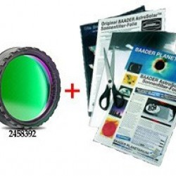 """Baader 1.25"""" Solar Continuum Filter stacked with AstroSolar Photo Film ND 3.8"""