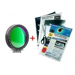"Baader 1.25"" Solar Continuum Filter stacked with AstroSolar Photo Film ND 3.8"