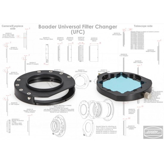 Baader UFC M48 (male) Camera-side Adapter for Baader Universal Filter Changer (optical length 2mm) CLEARANCE