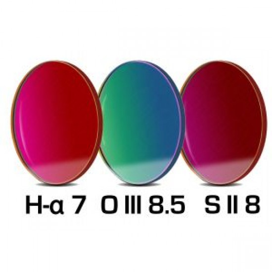 Baader CCD Complete Filterset 36mm  H-alpha 7nm, OIII 8.5nm, SII 8nm (2mm glass thickness), consisting of  Filters without Cell