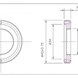 C-Mount Extension-Ring 1-inch C(i) / T-2 (a)