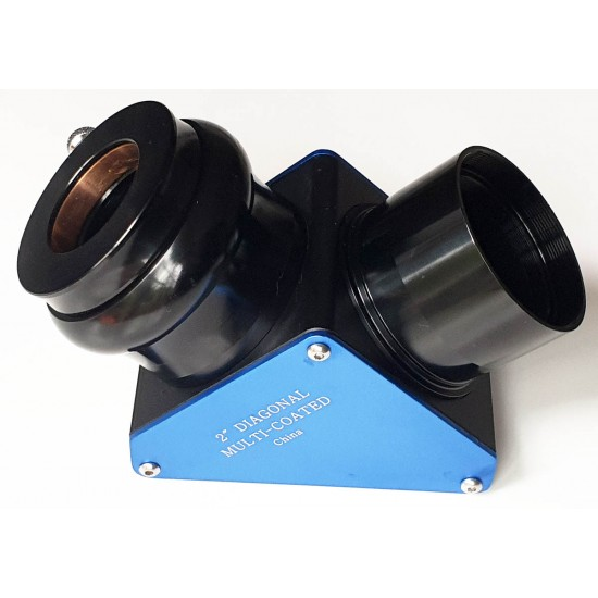 """365Astronomy 2"""" 99% Dielectric Deluxe Mirror Diagonal with 1.25"""" Adapter"""