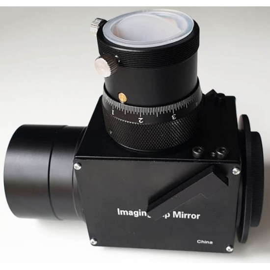 """365Astronomy Imaging Flip Mirror with Non-Rotating Helical Micro Focuser with 2"""" Nosepiece"""