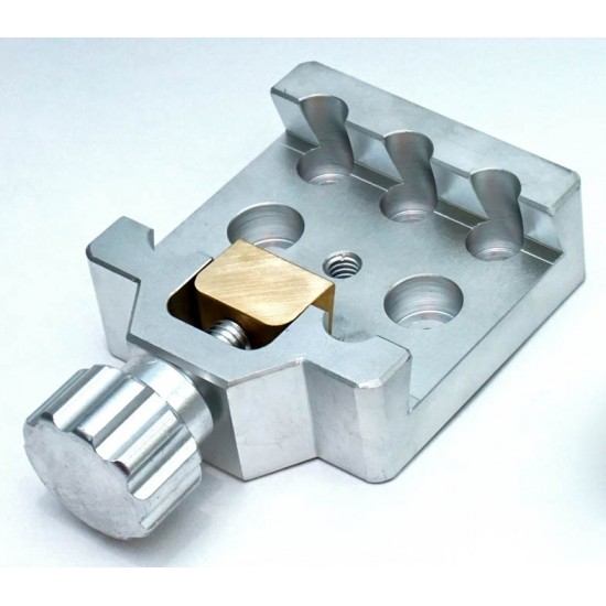 SMALL Universal Mounting Platform / Clamp - Vixen Compatible - ALUMINIUM with BRASS PRESSION BLOCK