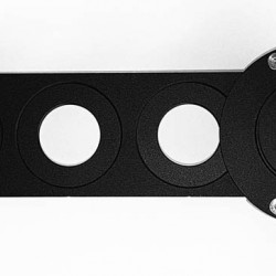 "365Astronomy 6-position Sliding Filter Holder - Filter Slider for 1.25"" and 2"" Filters"