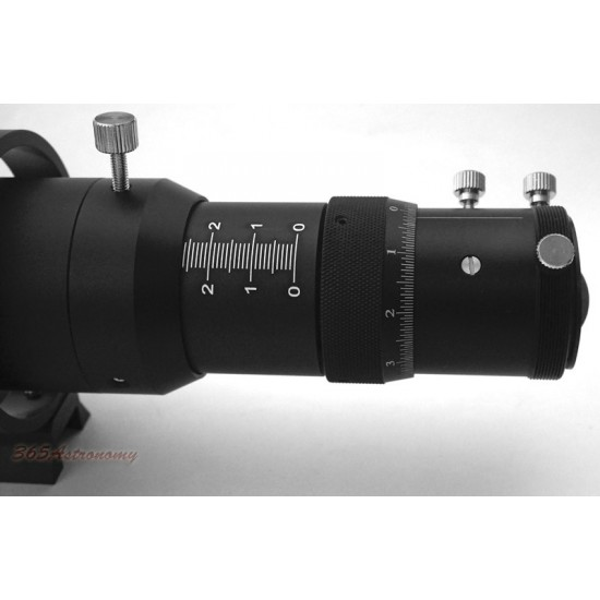 """365Astronomy 50mm Compact Deluxe Finder & Guidescope Kit with 1.25"""" Non-Rotating Helical Focuser"""