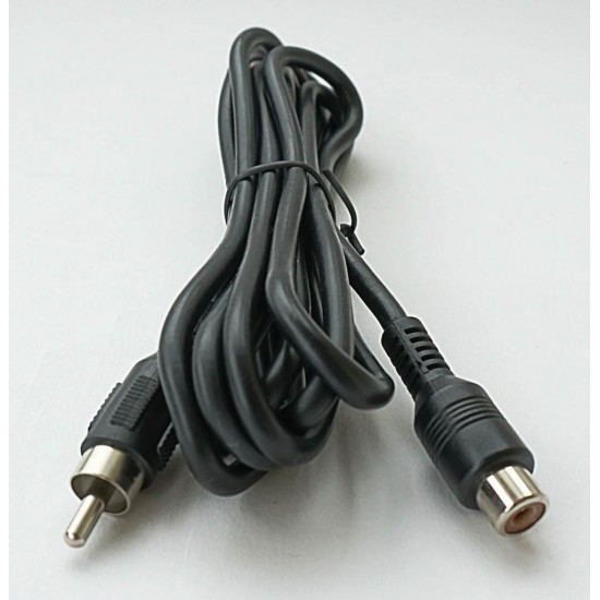 365Astronomy 2m Dew Heater Extension Cable with Phono Plug and Phono Socket (RCA to RCA)
