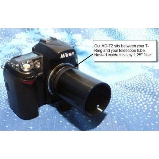 """M28 to M42 Camera T-ring Adapter for 1.25"""" Star Analyser"""