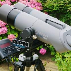 APM 100 ED-APO BINO 45-degree Binocular with APM Fork Mount, Nexus DSC & Black Berlebach UNI 28 Tripod