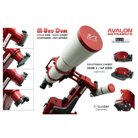 Avalon M-UNO-DUAL Single Fork Equatorial Mount - StarGo WI-FI Version