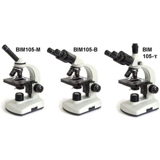 BTC BIM105M Biological Microscope with 4 Objectives and Monocular Head 40x - 1000x