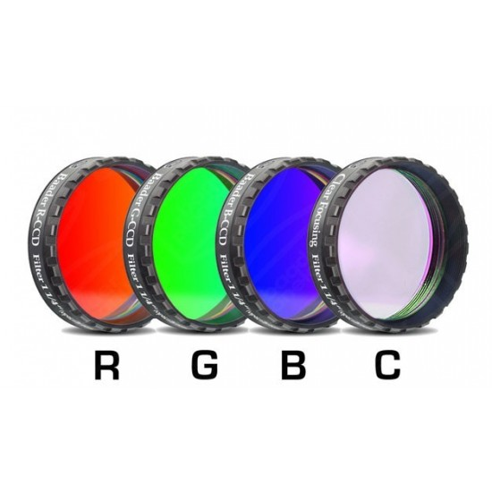 """Baader RGBC-CCD-Filter-Set 1'/4"""" RGB +Clear-Glass-Filter"""