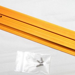 Baader V (EQ) Dovetail Bar Orange Anodised Drilled for Celestron 9.25 and 11 inch SCT Optical Tubes