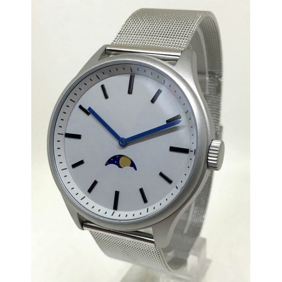 Bauhaus Moon Age Watch - Silver -CLEARANCE