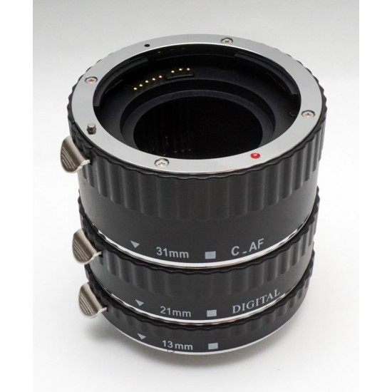 Commlite CM-ME-AFC Macro Extension Tube Set TTL Autofocus for Canon EOS EF / EF-S Lenses - METAL