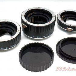 Commlite CM-ME-AFC Macro Extension Tube Set TTL Autofocus for Canon EOS EF / EF-S Lenses - METAL