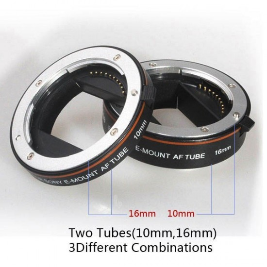Commlite AF Macro Extension Tube Set Autofocus for SONY Nex E-Mount Camera Lenses - Mark II for CPS-C & FULL FRAME SONY E-MOUNT - CLEARANCE