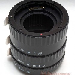Commlite CM-PE-AFC Macro Extension Tube Set TTL Autofocus for Canon EOS EF / EF-S Lenses - PLASTIC