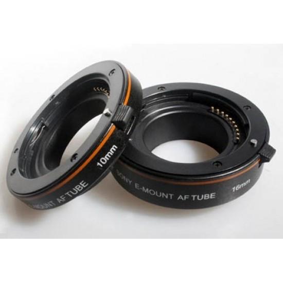 Commlite AF Macro Extension Tube Set Autofocus for SONY Nex E-Mount Camera Lenses - NON-FULL-FRAME - PLASTIC VERSION