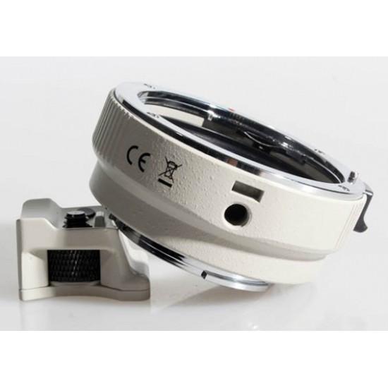 Commlite Autofocus Lens Mount Adapter - Canon EOS EF / EF-S Lens to SONY NEX E-Mount - METAL - WHITE