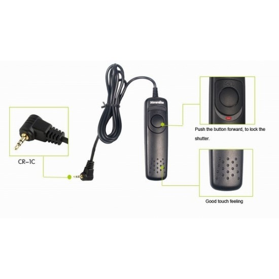 Commlite Wired Remote Control Shutter Release - 1C - for Canon EOS1100D (Rebel T3), 700D (T5i), 650D (T4i), 600D (T3i), 60Da, 60D, 70D, 550D, etc.