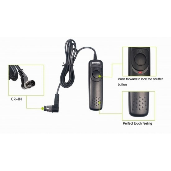 Commlite Wired Remote Control Shutter Release - 1N - for Nikon D4, D3X, D3, D700, D800, D800E, D300S, D300, D200, Fujitsu S5 Pro, S3 Pro, etc.