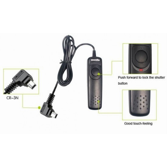 Commlite Wired Remote Control Shutter Release - 3N - for Nikon D90, D600, D3200, D3100, D5100, D5000, D7000, D7100, etc.