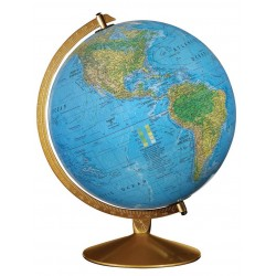 "12"" The Captain Dual Mapping Illuminated Desktop Globe- CLEARANCE"