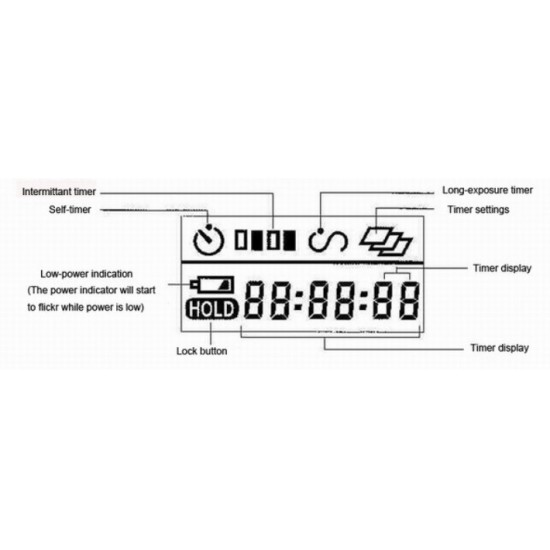 Commlite Digital Timer Remote Control - TR1N - Nikon