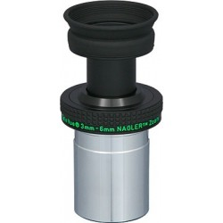 TeleVue Nagler Planetary Zoom 3-6mm Eyepiece with 50° Constant Apparent Field