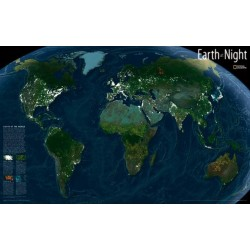 The Earth at Night Decorator Encapsulated Map 87 x 55 cm