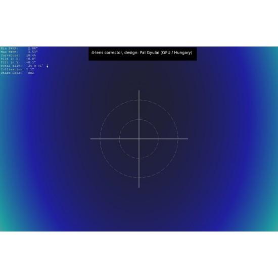 "Lacerta Coma Corrector 2"" for up to f/4 Newtonian Telescopes - Aplanatic 4-element GPU Design"