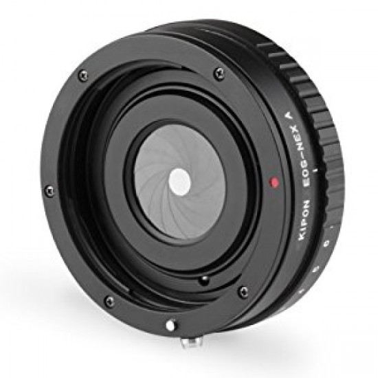 KIPON Canon EOS Lens to Sony NEX E-Mount Adapter with Manual Aperture Control - CLEARANCE