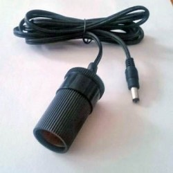 Lacerta Power Cable with Cigarette Lighter-type Socket and 5.5mm/2.5mm Jack