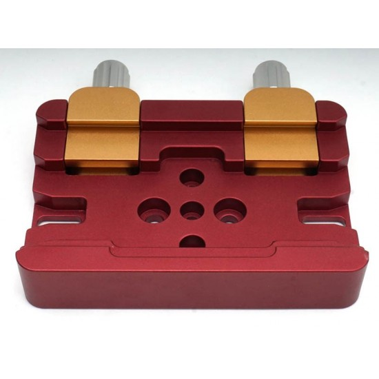 LARGE Universal Deluxe Mounting Platform / Clamp - Vixen / Losmandy Compatible - Red / Gold