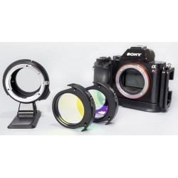"DEO-Tech OWL Canon EF Lens to Sony E-mount Drop-In Filter Adapter Filter Drawer BUNDLE with Optolong L-PRO MAX 2"" & UHC 2"""
