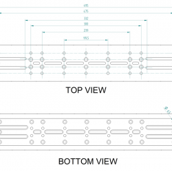 Primaluce Lab 495mm PLUS Losmandy Plate - Dovetail Bar - NEW VERSION