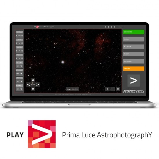 PLAY - Prima Luce AstrophotographY software