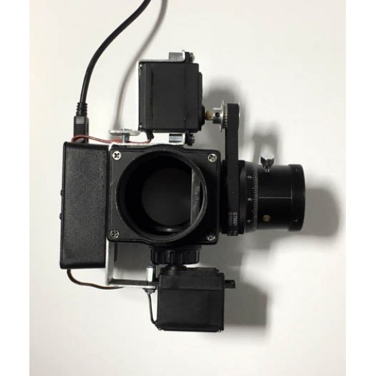 STARFRAME DUO Computer Controlled Imaging Flip Mirror for Dual Remote Camera Application with Computer Controlled Helical Microfocuser