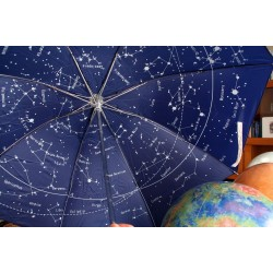 The Night Sky - Star Map - Celestial Constellations Umbrella - BLUE