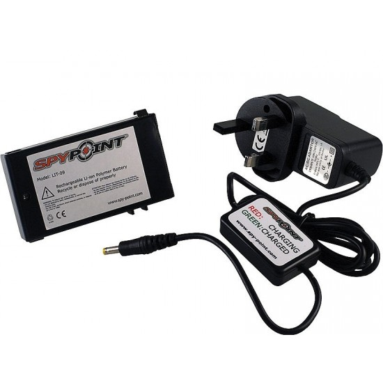 Spypoint Lithium Battery and AC Charger with Charge Indicator LED