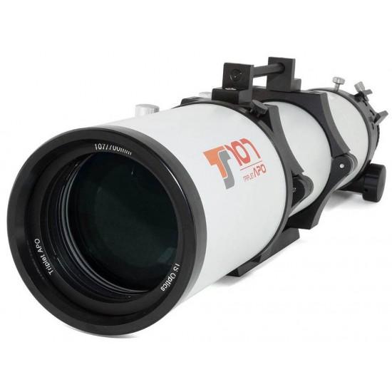 "TS-Optics Photoline 107mm f/6.5 Triplet FPL53 APO with 3"" Dual Speed Rack & Pinion CNC Focuser"